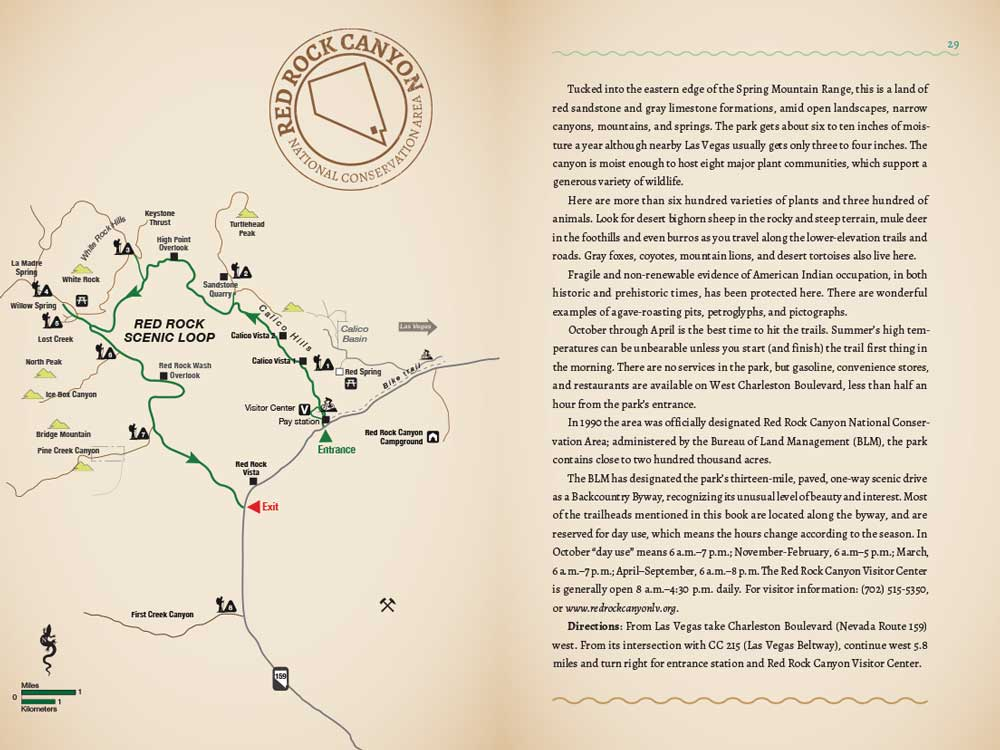 Red Rock  map page